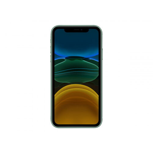 Apple iPhone 11 - Smartphone - dual-SIM - 4G Gigabit Class LTE - 64 GB - GSM - 6.1&uot; - 1792 x 828 pixels (326 ppi) - Liquid Retina HD display (12 MP front camera) - 2x rear cameras - green