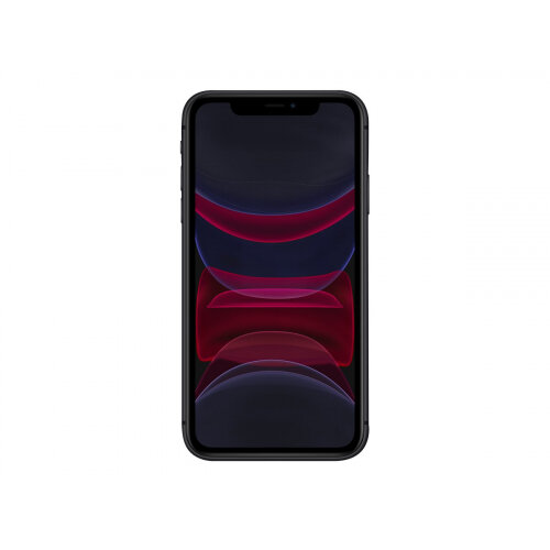 Apple iPhone 11 - Smartphone - dual-SIM - 4G Gigabit Class LTE - 128 GB - GSM - 6.1&uot; - 1792 x 828 pixels (326 ppi) - Liquid Retina HD display (12 MP front camera) - 2x rear cameras - black