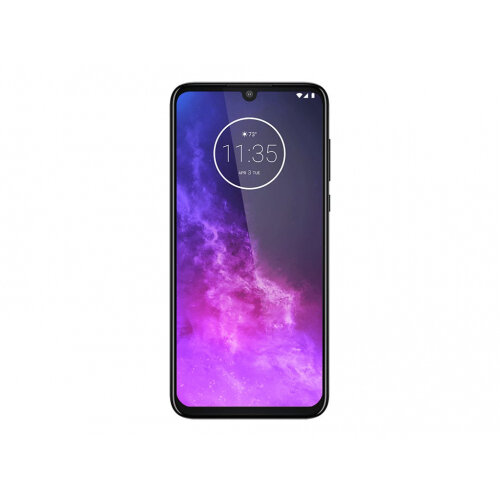 Motorola One Zoom - Android One - smartphone - dual-SIM - 4G LTE - 128 GB - microSDXC slot - GSM - 6.4&uot; - 2520 x 1080 pixels - RAM 4 GB (25 MP front camera) - 4x rear cameras - Android - electric grey