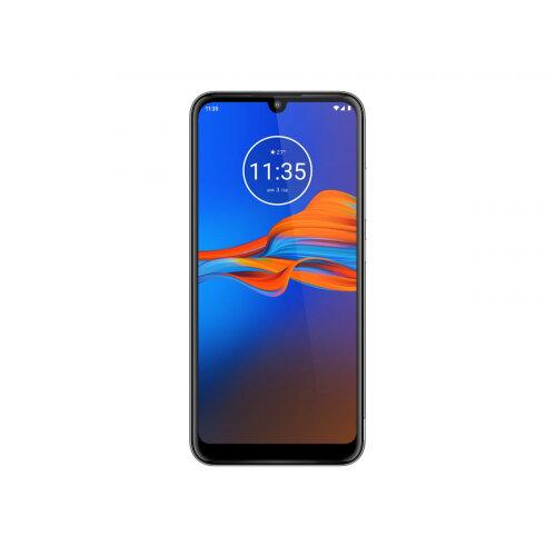 Motorola Moto E6 Plus - Smartphone - 4G LTE - 32 GB - microSDXC slot - GSM - 6.1&uot; - 1560 x 720 pixels - IPS - RAM 2 GB (8 MP front camera) - 2x rear cameras - Android - polished graphite