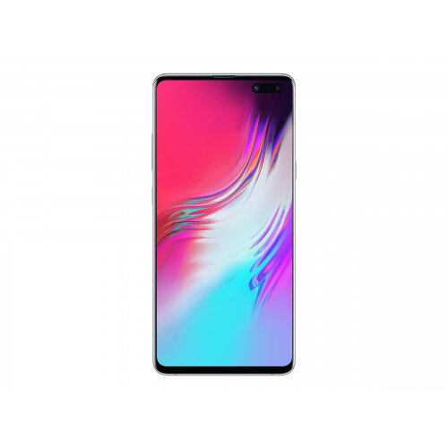 Samsung Galaxy S10 5G - Smartphone - 5G NR - 256 GB - TD-SCDMA / UMTS / GSM - 6.7&uot; - 3040 x 1440 pixels (505 ppi) - Dynamic AMOLED - RAM 8 GB - 4x rear cameras (2x front cameras) - Android - crown silver