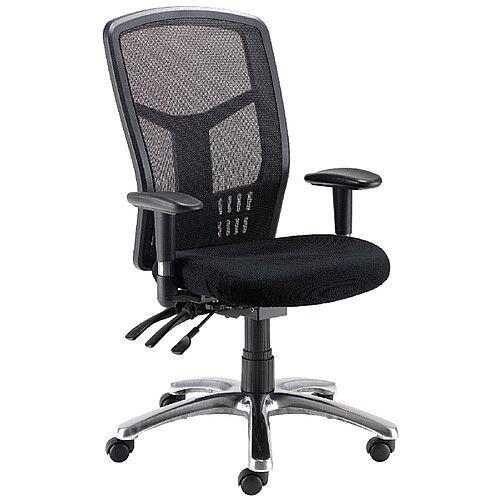 Avior 24-Hour High Back Mesh Task Operator Office Chair Black 09HD05
