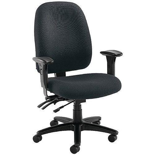Avior Heavy Duty 24 Hour High Back Office Chair with Lumbar Charcoal KF72250