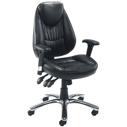 Avior Calabria Leather Look Task Operator Office Chair Black KF03434