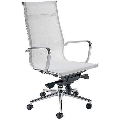 Breeze BH1 High Back Designer Mesh Office Arm Chair White