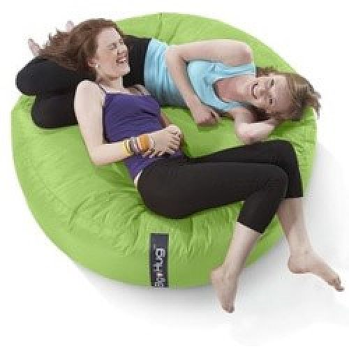 Excellent Round Green Bean Bag Large For Indoor Or Outdoor Use Beatyapartments Chair Design Images Beatyapartmentscom