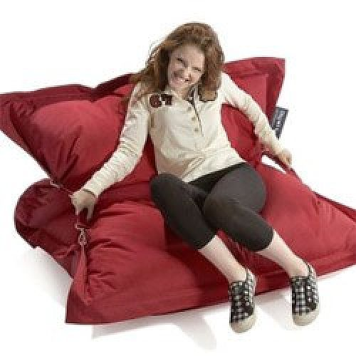 Prime Red Strapping Bean Bag Large For Indoor And Outdoor Use Caraccident5 Cool Chair Designs And Ideas Caraccident5Info