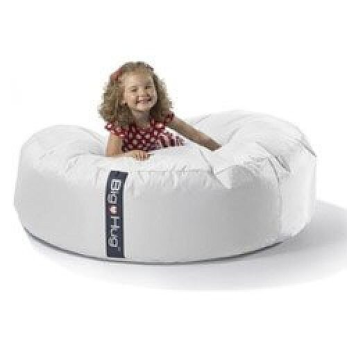 Fine Round White Bean Bag Large For Indoor Or Outdoor Use Ocoug Best Dining Table And Chair Ideas Images Ocougorg