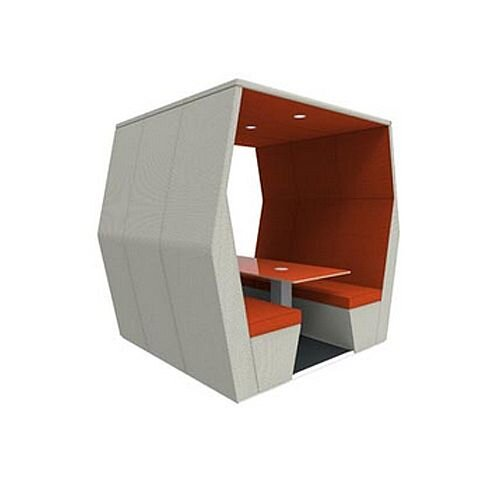Meeting Pod BILL 6 Seater Orange &Grey