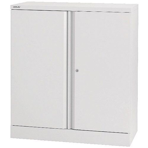 Bisley 40 2 Door Cupboard Chalk White 1 Shelf