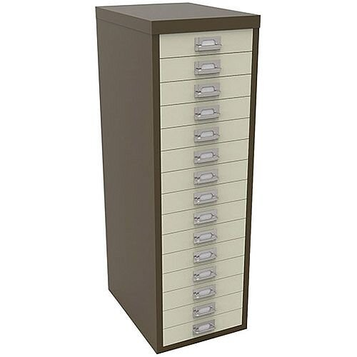 Bisley Multi-Drawer Cabinet 39 inches 15 Drawer Non-Locking Coffee/Cream 39/15