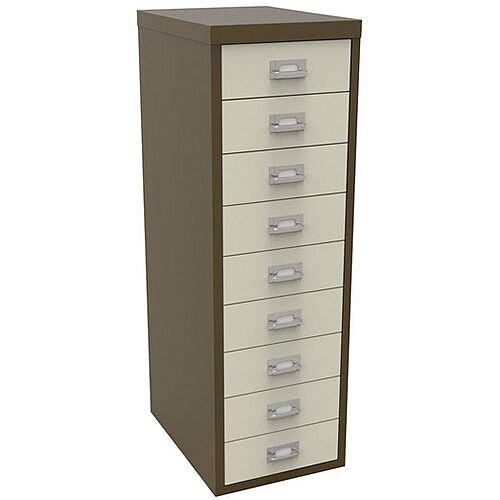 Bisley Multi-Drawer Cabinet 39 inches 9 Drawer Non-Locking Coffee/Cream 39/9