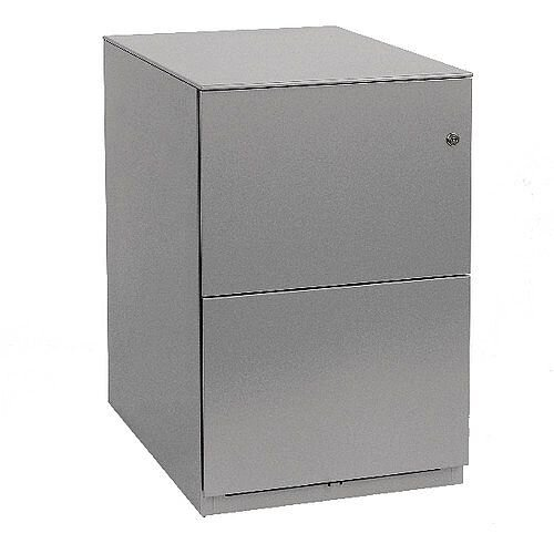 Bisley Note Pedestal Free Standing 2 Filing Drawers Grey