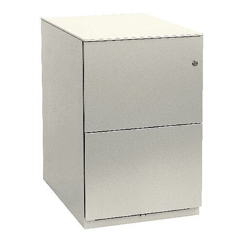 Bisley Note Pedestal Free Standing 2 Filing Drawers White