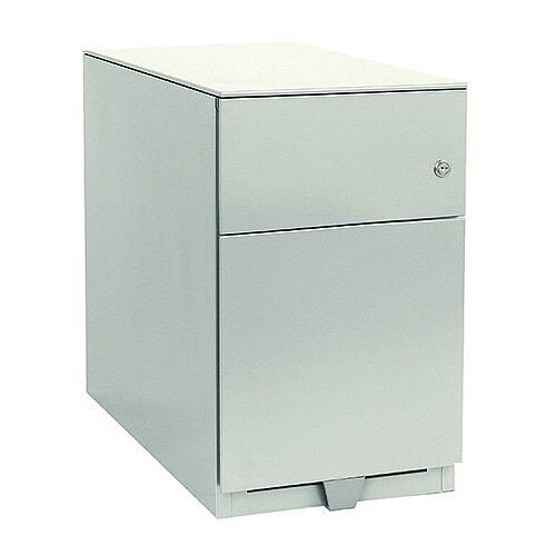 Bisley Note Pedestal Mobile 1 Stationery 1 Filing Drawer White