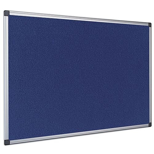 Bi-Office Felt Board 600 x 900mm Blue Aluminium Frame FA0343170