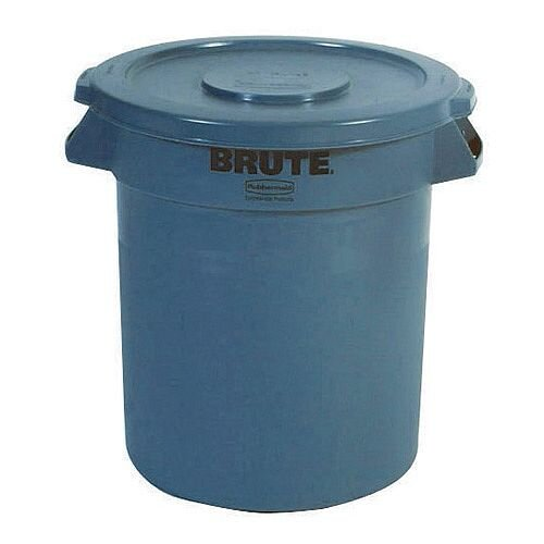 Brute Dustbin Heavy Duty Bin Container 121 Litre Grey - Made from Food Grade polyethylene - Snap on lid for secure stacking - Container that is chip resistant