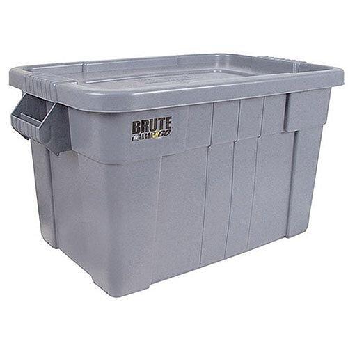 Brute Tote Box/Lid 75 Litre Grey 382216