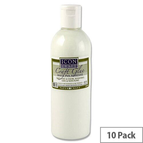 PVA Icon Craft Glue 500ml Bottle Pack 10
