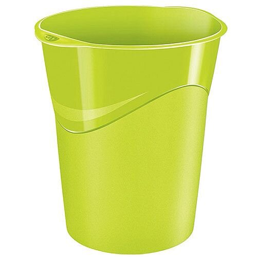 CEP Pro Gloss Office Waste Desk Bin Green 14L