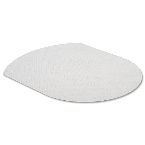 Cleartex Advantagemat PVC Chairmat for Carpets Contoured 990x1250mm Clear 119932SV