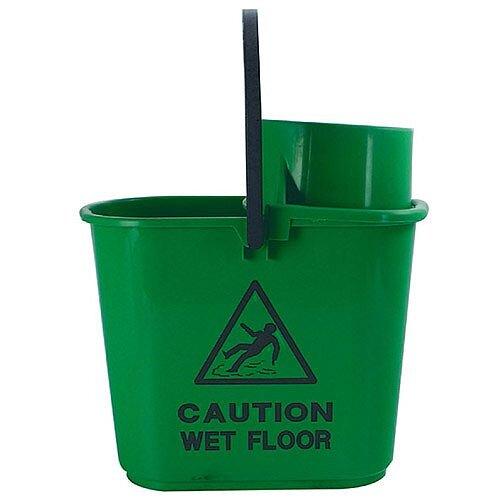 Mop Bucket Wringer 15 Litre Green