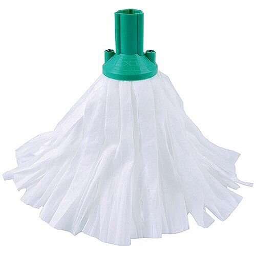 Contico Standard Big White Exel Mop Head Green Pack of 10
