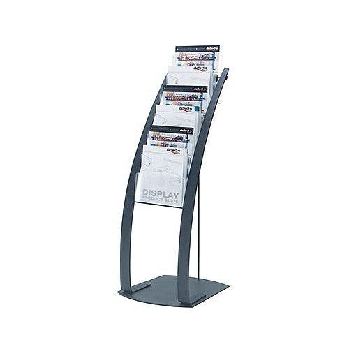 Deflecto Contemporary Floor Stand 6-Pocket Black 693104