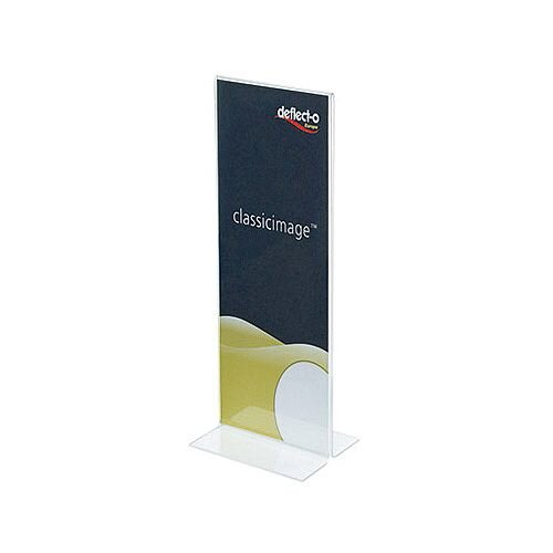 Deflecto Stand Up Sign Holder Size DL 1/3xA4 Clear