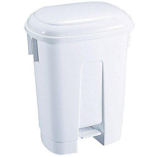 Derby Plastic Pedal Waste Bin 60 Litre White 348011