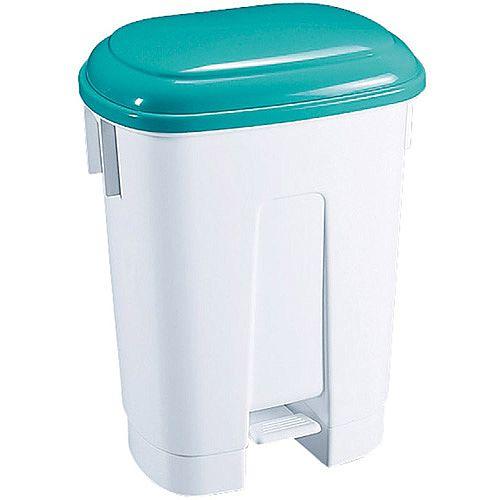 Derby  Plastic Pedal Waste Bin 60 Litre White/Green 348015