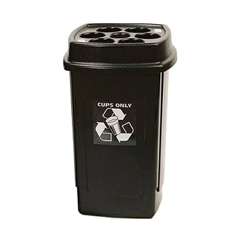 Disposable Cup Recycling Bin Black/Grey SBY16010 124466