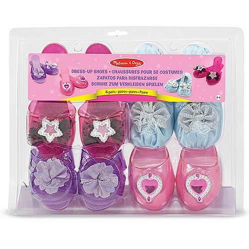 Girls Dress Up Shoes Set of 4 Size 3-5