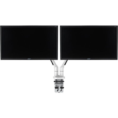 Vision Double Monitor Arm With 2 Acer 21.5'' Computer Monitors Bundle