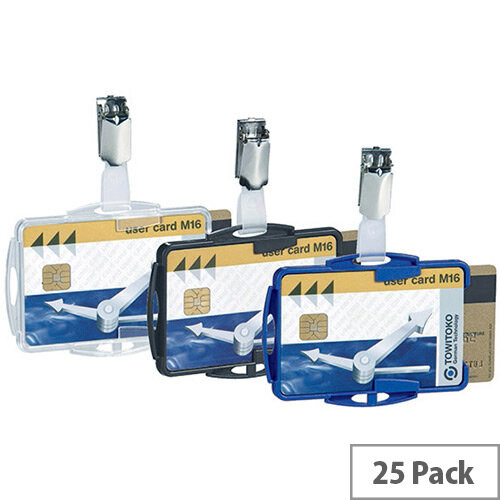 Durable Dual Security Pass Holder Pack of 25 821819