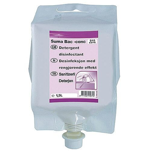 Diversey Suma Bac D10 Detergent and Disinfectant Concentrate 1.5 Litre Pack of 4 7010071