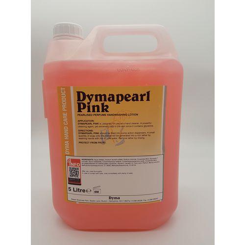 Dymapearl Liquid Pink Hand Wash Soap 1 Litre (Pack of 5)