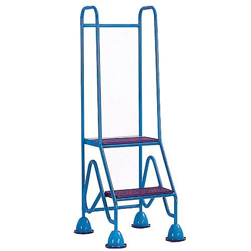 Easy Glide Mobile 2 Step Full Handrail Blue Height To Platform 500mm Capacity 150Kg