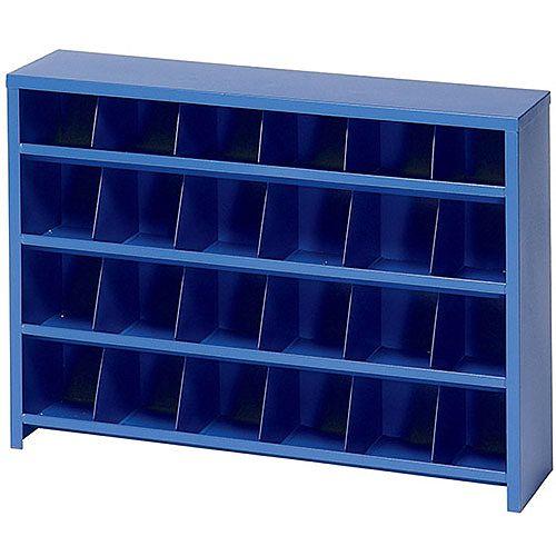 Economy Mailroom Sorter Pigeon Hole 24 Bin Blue