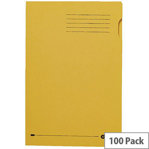 Elba Foolscap Square Cut Folder Recycled Mediumweight 285gsm Manilla Yellow Pack 100 Ref 100090223