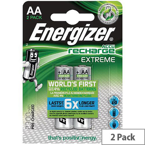 Energizer Extreme Rechargeable AA Batteries 2300mAh Pack 2 Ref 634998