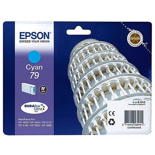Epson No 79 Pisa Cyan Inkjet Cartridges C13T79124010