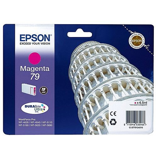 Epson No 79 Pisa Magenta Inkjet Cartridges C13T79134010