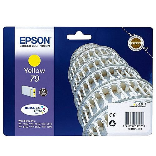 Epson No 79 Pisa Yellow Inkjet Cartridges C13T79144010