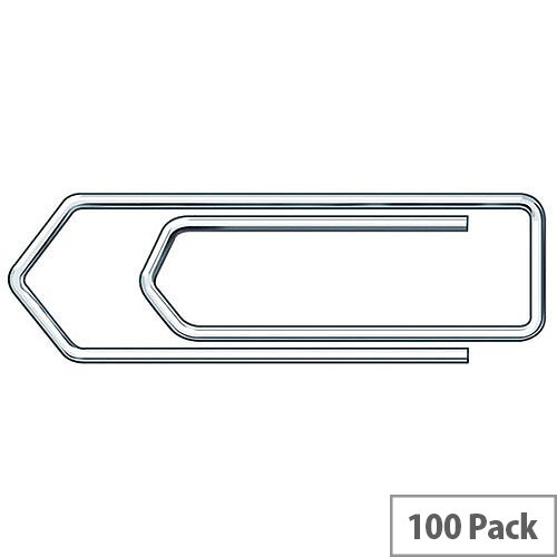 No Tear Paperclip Jumbo 45mm Pack of 100 32481 Essentials