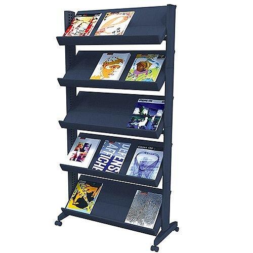 Fast Paper Easy Literature Display Corner Black F255N.01