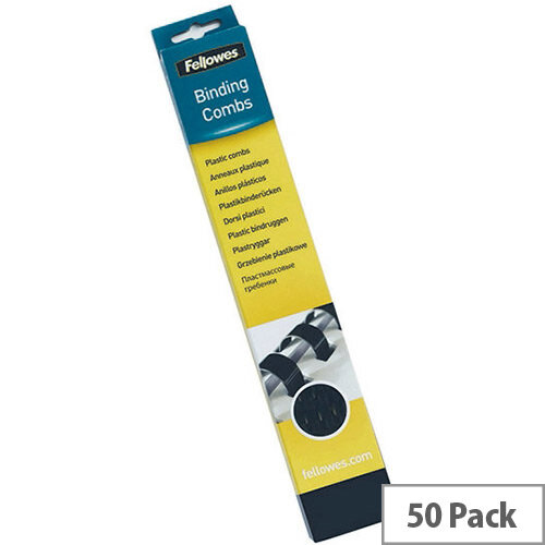 Fellowes Binding Comb 32mm Black A4 Pack of 50