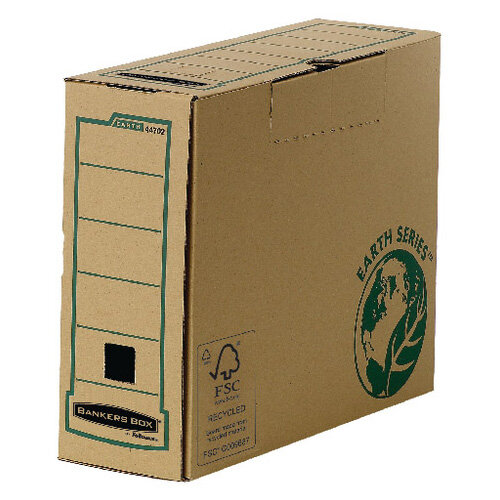 Fellowes R-Kive Earth Transfer File Recycled Tabseal Lid A4 Pack 20