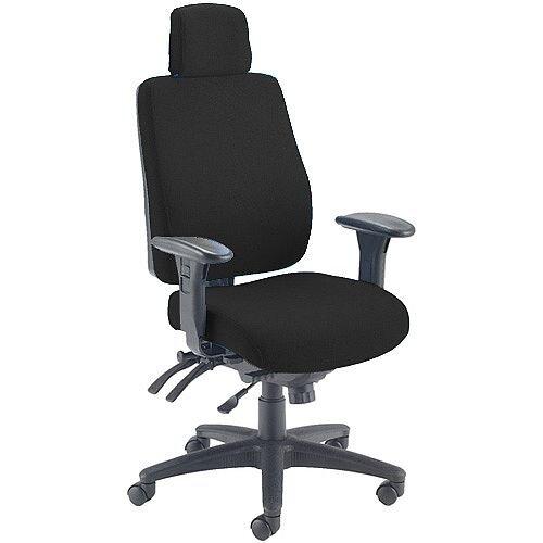 Avior Elbrus High Back 24 Hour Heavy Duty Task Operator Office Chair Black