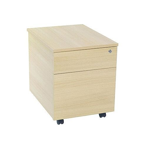 Jemini Intro 2-Drawer Mobile Pedestal Warm Maple
